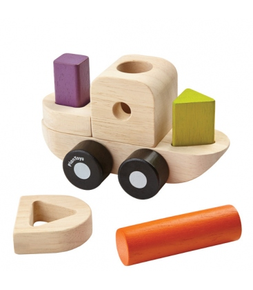 Βαρκούλα με Γεωμετρικά Σχήματα, Plantoys Ξύλινο, Εκπαιδευτικό, Οικολογικό Παιχνίδι