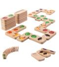 Ντόμινο με Φρούτα & Λαχανικά, Plantoys Ξύλινο, Εκπαιδευτικό, Οικολογικό Παιχνίδι