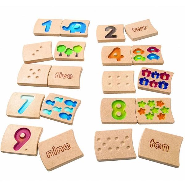 Αριθμοί 1-10 Plantoys Ξύλινο, Εκπαιδευτικό, Οικολογικό Παιχνίδι