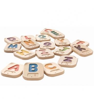 Αλφαβήτα (Αγγλικά) A-Z (Braille) Plantoys Ξύλινο, Εκπαιδευτικό, Οικολογικό Παιχνίδι
