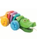 Κροκόδειλος που Κινείται - Ουράνιο Τόξο, Plantoys Ξύλινο, Εκπαιδευτικό, Οικολογικό Παιχνίδι