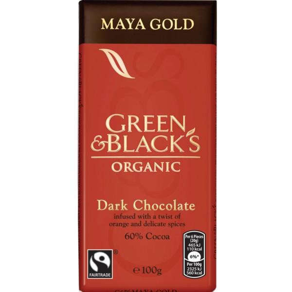 Βιολογική Σοκολάτα Maya Gold Bio 100γρ., Green & Blacks