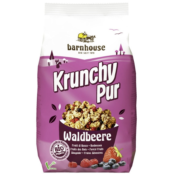 Krunchy Βιολογικά Δημητριακά με Φρούτα του Δάσους 375 γρ. Χωρίς Ζάχαρη Βio Barnhouse
