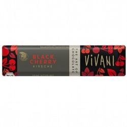 Βιολογική Μπάρα Μαύρης Σοκολάτας με Βύσσινο 35 γρ. Bio Vivani