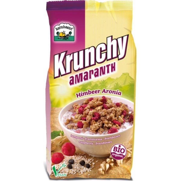 Βιολογικό Μούσλι Krunchy με Αμάρανθο & Αρόνια 375 γρ. Bio Barnhouse