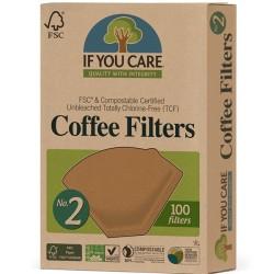Φίλτρα Καφέ Νο 2 100 Τεμάχια If You Care