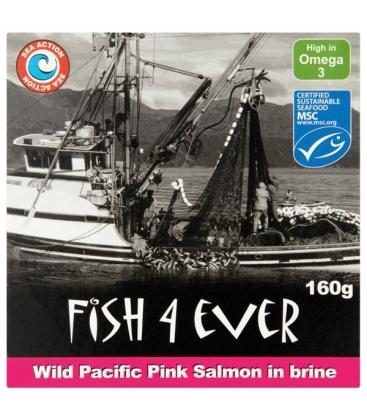 Άγριος Ροζ Σολωμός σε Νερό 160 γρ. Fish 4 Ever