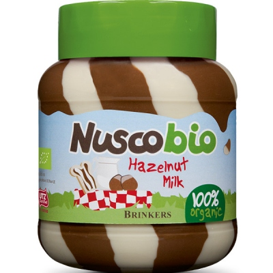 Βιολογική Δίχρωμη Πραλίνα Φουντουκιού Nuscobio 400 γρ. Bio Brinkers