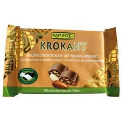 Βιολογική Σοκολάτα Γάλακτος με Καραμελωμένα Αμύγδαλα Bio 100 γρ. Rapunzel