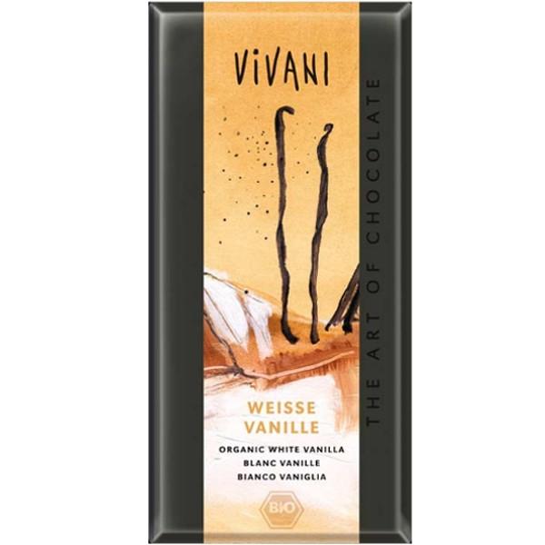 Βιολογική Λευκή Σοκολάτα με Βανίλια 100 γρ. Βio Vivani