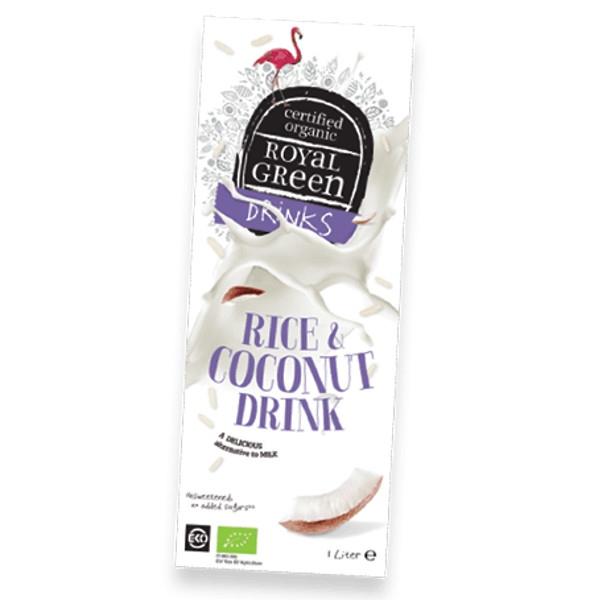 Βιολογικό Ρόφημα με Ρύζι & Καρύδα Χωρίς Ζάχαρη 1 λίτρο Bio Royal Green