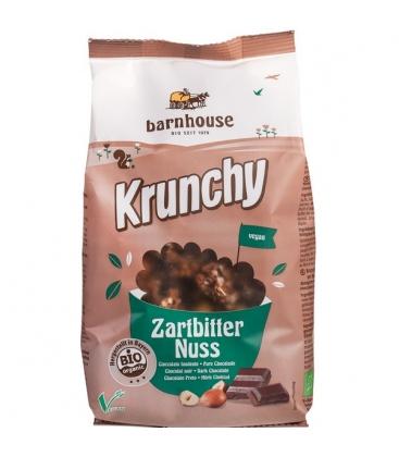 Βιολογικό Krunchy με Μαύρη Σοκολάτα & Φουντούκι 375 γρ. Bio Barnhouse