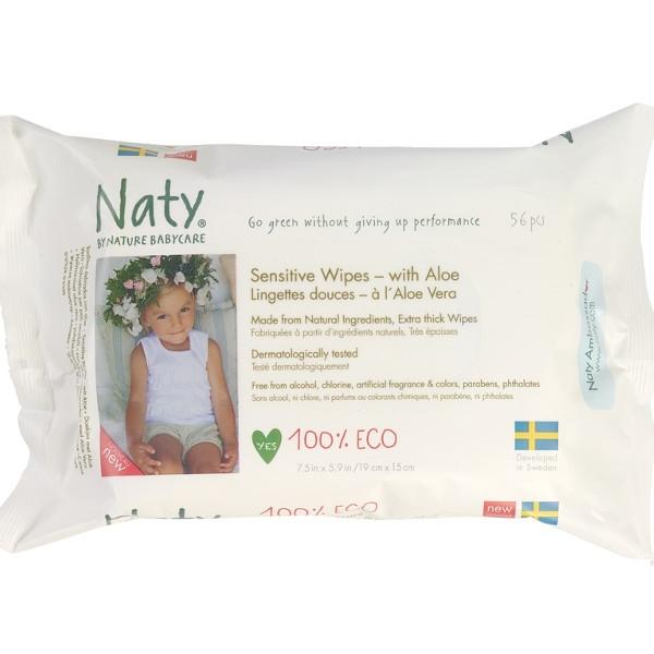 Μωρομάντηλα με Αλόη 56 τεμάχια Naty