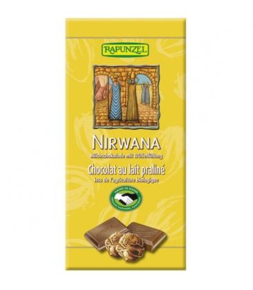 Βιολογική Σοκολάτα Γάλακτος με Τρούφα Nirvana 100 γρ. Βio Rapunzel