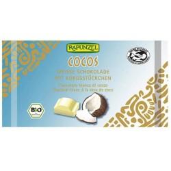 Βιολογική Λευκή Σοκολάτα με Καρύδα 100 γρ. Bio Rapunzel