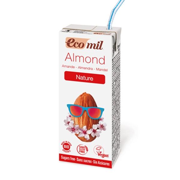 Βιολογικό Ρόφημα Αμυγδάλου Χωρίς Ζάχαρη Bio 200ml Ecomil