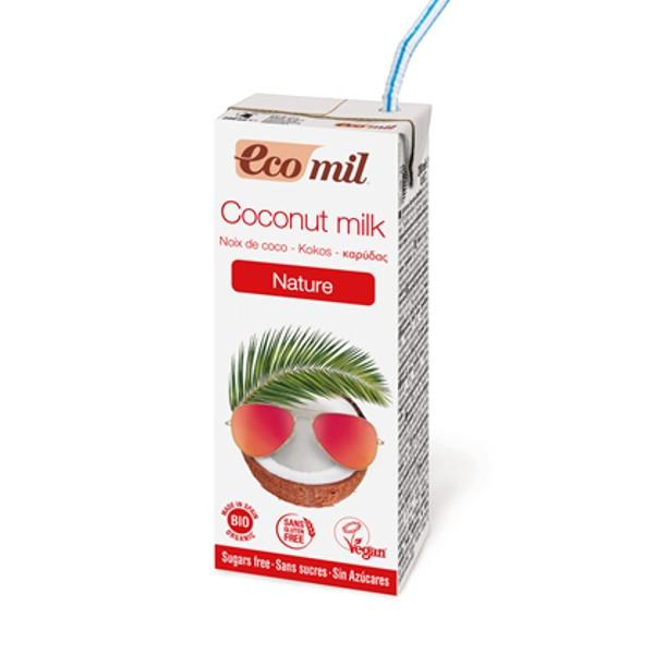 Βιολογικό Ρόφημα Καρύδας Χωρίς Ζάχαρη 200ml Ecomil