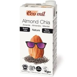 Βιολογικό Ρόφημα Αμυγδάλου Με Chia Χωρίς Ζάχαρη 1 λίτρο Bio Ecomil