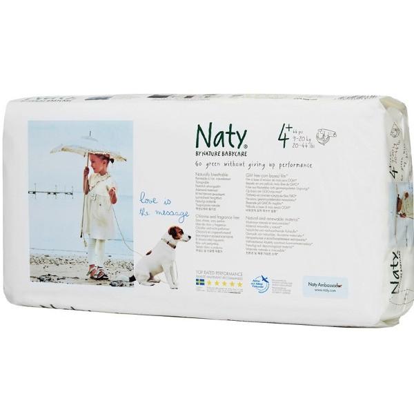 Οικολογικές Βρεφικές Πάνες Νο4+, για 9-20 κιλά, 25 τεμάχια, Naty