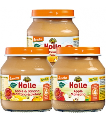 Βιολογικός Πουρές Μήλου 125 γρ. Demeter Holle