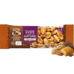 Βιολογική Μπάρα Πρωτεΐνης με Φυστίκια, Καραμέλα & Σοκολάτα 40γρ Taste Of Nature