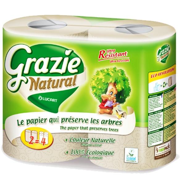 Χαρτί Κουζίνας 2 Maxi Ρολλά Grazie Natural Lucart