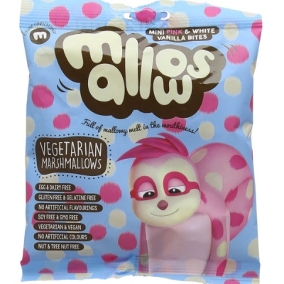 ΚΑΡΑΜΕΛΕΣ Marshmallow mini pink& white75 GR