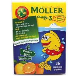 Moller's Ωμέγα-3 Ζελεδάκια, 36 τεμάχια
