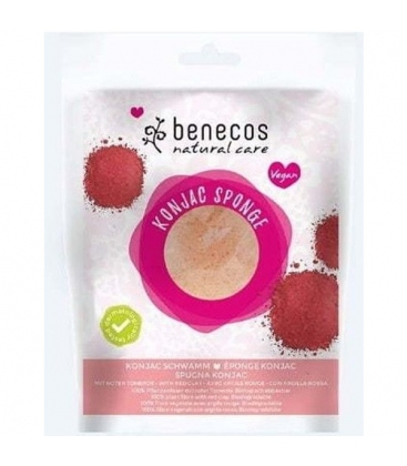 Σφουγγάρι Konjac Red Clay Benecos