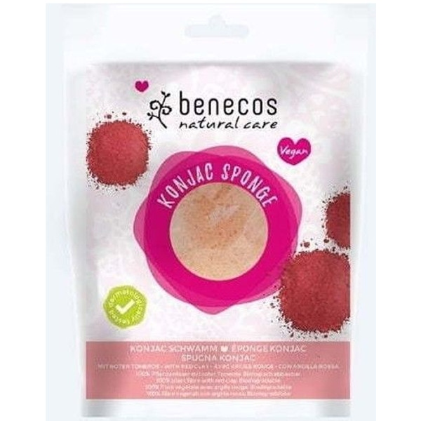 Σφουγγάρι Konjac Red Clay Benecos