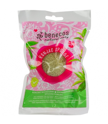 Σφουγγάρι Konjac με Πράσινο Τσάι Benecos