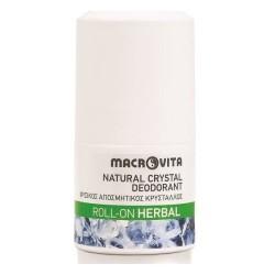 Φυσικός Αποσμητικός Κρύσταλλος Roll-on Herbal 75ml, Ελληνικός, Macrovita