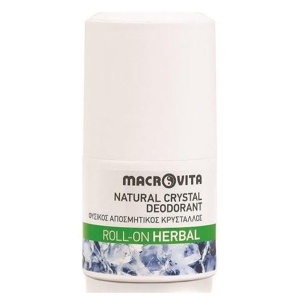 Φυσικός Αποσμητικός Κρύσταλλος Roll-on Herbal 50ml, Ελληνικός, Macrovita