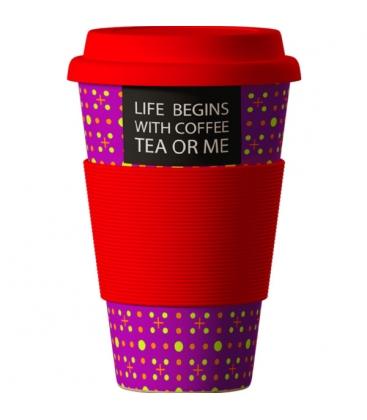 """Κούπα Eco """"Slogan"""" από Βιολογικό Μπαμπού 414ml Bamboo Cup"""
