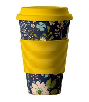 """Κούπα Eco """"Λουλούδια"""" από Βιολογικό Μπαμπού 414ml Bamboo Cup"""