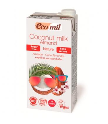 Βιολογικό Ρόφημα Αμυγδάλου με Καρύδα Χωρίς Ζάχαρη 1lt Ecomil
