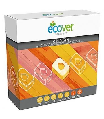 Ταμπλέτες Πλυντηρίου Πιάτων All In One 68 Τεμάχια Ecover