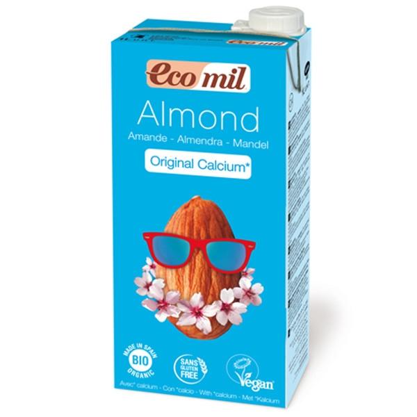 Βιολογικό Ρόφημα Αμυγδάλου με Έξτρα Ασβέστιο Βιολογικό 1 λίτρο, Ecomil