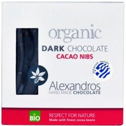 Βιολογική Σοκολάτα Υγείας με Cacao Nibs 90γρ Bio Alexandros