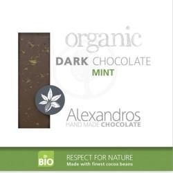 Βιολογική Σοκολάτα Υγείας με Μέντα 90γρ., Bio Alexandros