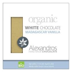 Βιολογική Λευκή Σοκολάτα με Βανίλια 90γρ., Bio Alexandros