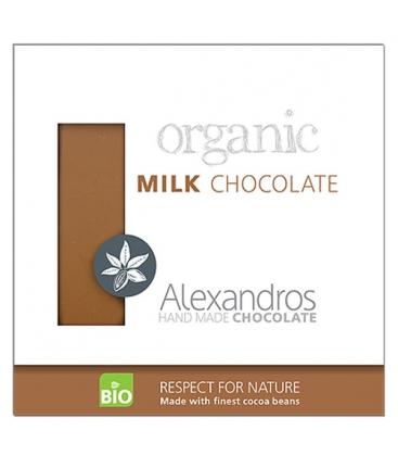 Βιολογική Σοκολάτα Γάλακτος 90γρ., Alexandros