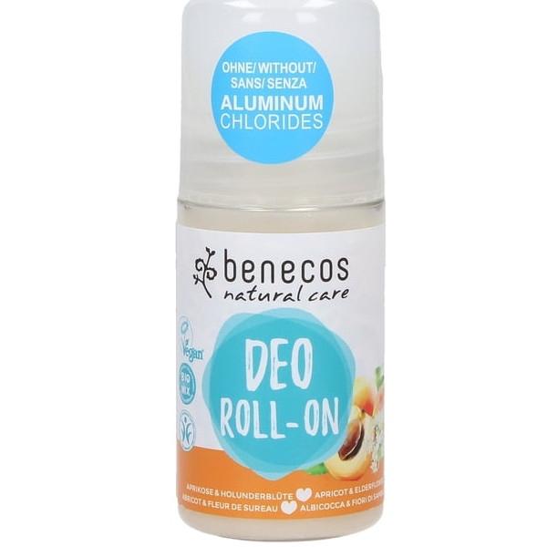 Αποσμητικό Roll-On με Βερίκοκο & Κουφοξυλιά, 50ml, Bio Benecos