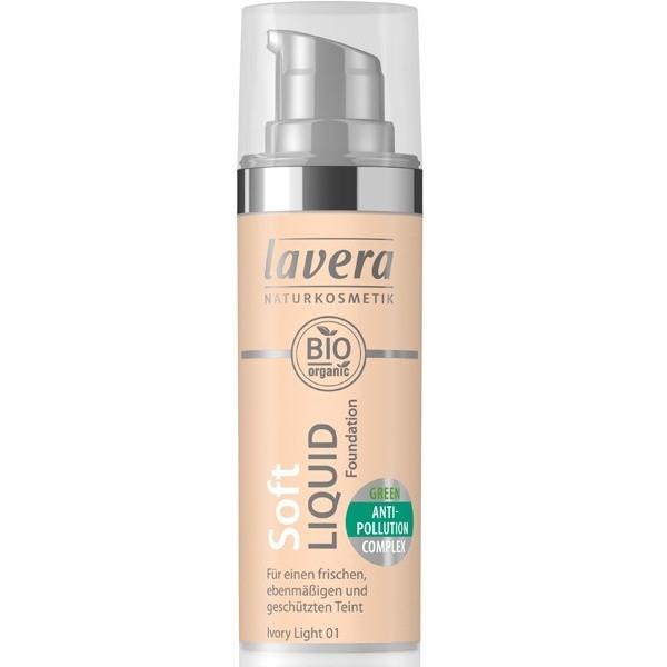 Βιολογικό Υγρό Make-up Soft, Ivory Light 01, 30ml, Lavera