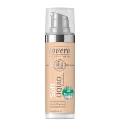Βιολογικό Υγρό Make-up Soft, Ivory Νude 02, 30ml Lavera