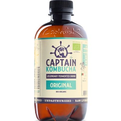 ΚΟΜΠΟΥΧΑ ORIGINAL CAPTAIN KOMBUCHA ΒΙΟ 400 ML