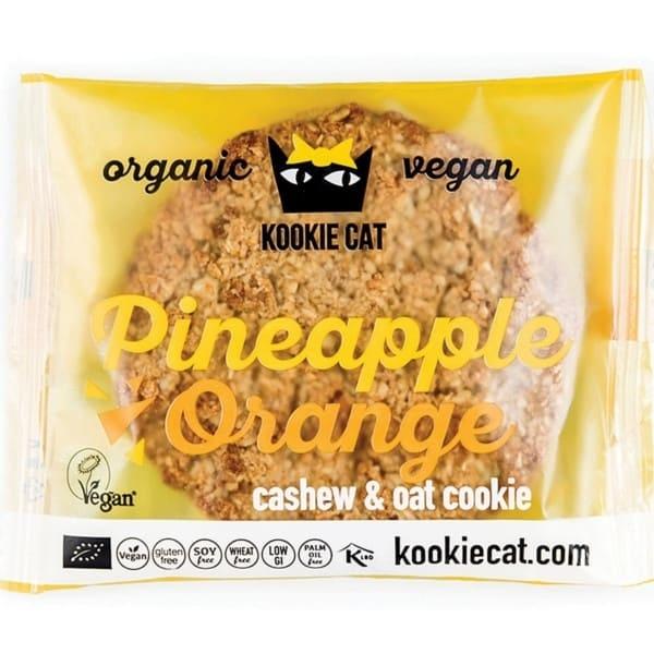 Βιολογικά Μπισκότα Βρώμης με Aνανά & Πορτοκάλι 50 γρ., Bio Kookie Cat