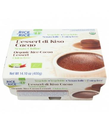 Βιολογικό Επιδόρπιο Ρυζιού με Κακάο 4 Χ 100γρ., Bio, Rice & Rice