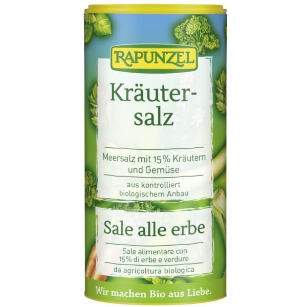 Θαλασσινό Αλάτι με Βιολογικά Βότανα σε Αλατιέρα,125γρ., Rapunzel
