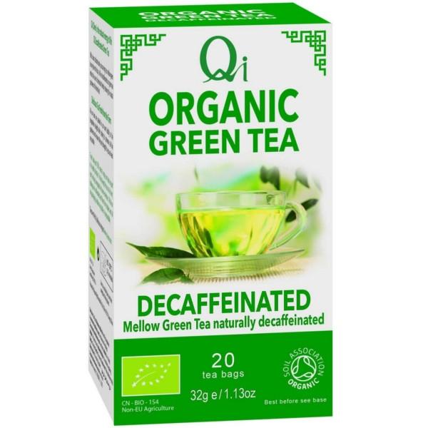 Βιολογικό Πράσινο Τσάι Χωρίς Καφεΐνη, 20 Φακελάκια, Bio, QI